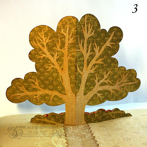 Семейное дерево в технике поп ап (pop up)